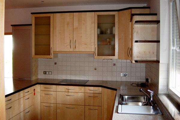 Schreinerei ertle in langenau einbaumobel einbaukuchen for Einbauküche massivholz